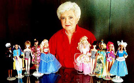 Ruth Handler and Barbie dolls